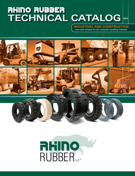 Rhino Rubber introduces industrial tire catalog