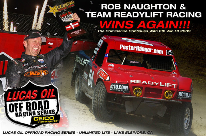 Rob Naughton and Team ReadyLift Racing wins again