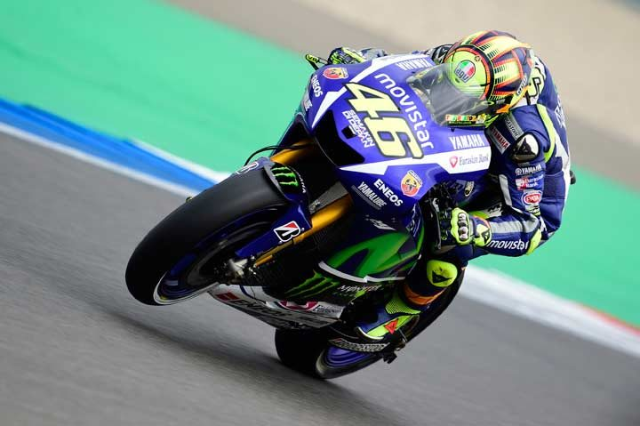 Rossi razes lap record to take pole position in Assen
