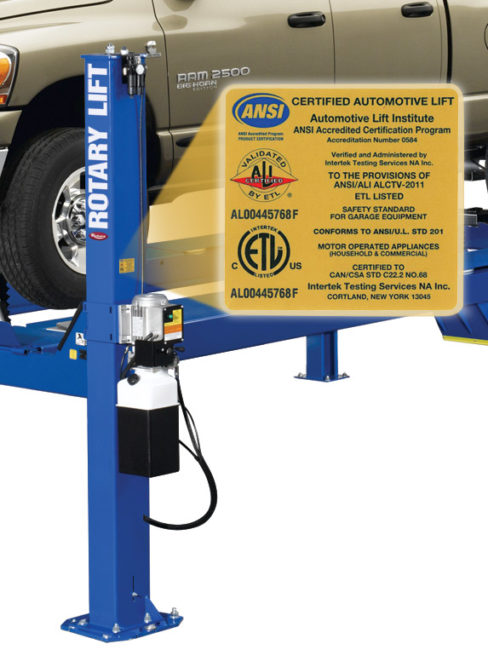 Rotary Lift models recertified
