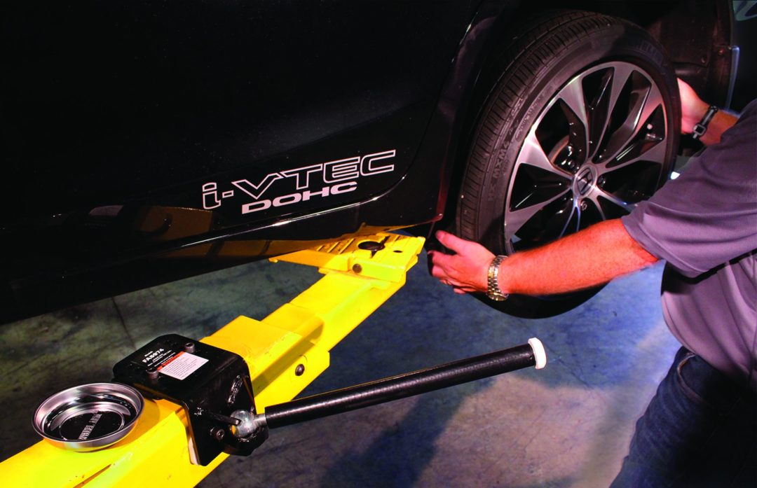 Rotary Lift Tire Hanger Makes it Easier to Remove Wheels