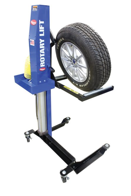 Rotary Mobile Wheel Lift reduces risk