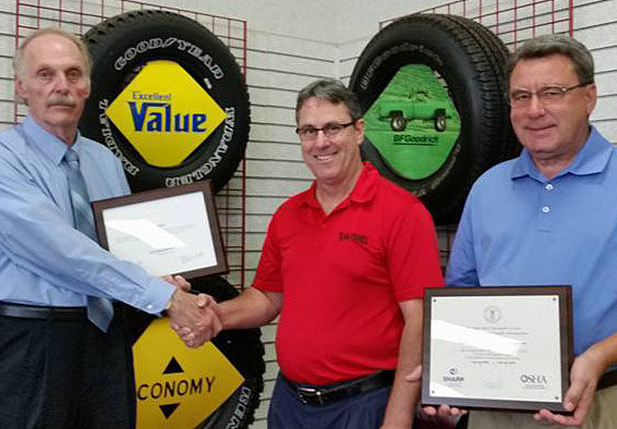 Safety Culture at T.O. Haas Tire Is Honored by OSHA