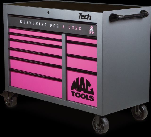 Sales of Mac Tools Toolbox Benefit Breast Cancer Research