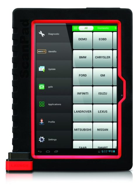 ScanPad 101 Tablet Gives Full System Diagnosis