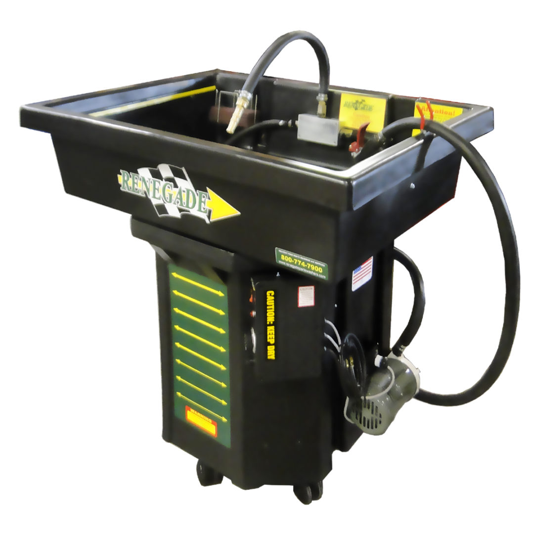 Service Line Has Manual Parts Washer