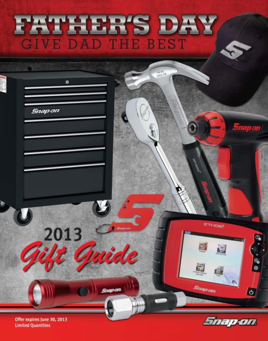 Snap-on has special pricing for Father's Day