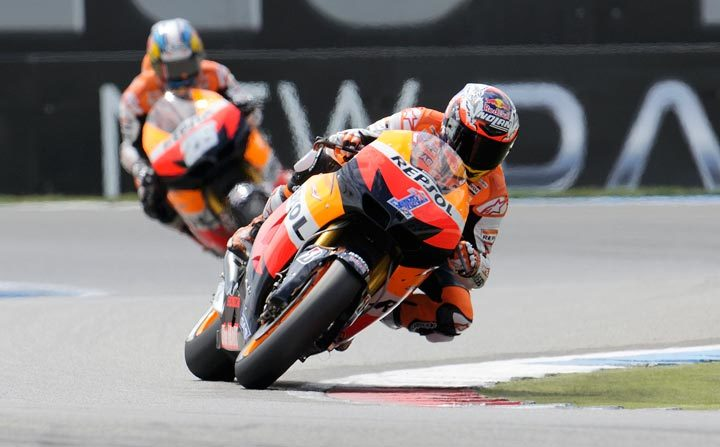 Stoner soars to victory at Assen