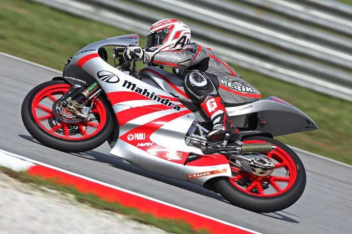 Strong finish for Mahindra's Webb in Malaysian 125 Grand Prix
