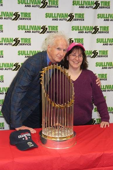 Sullivan Tire Hosts Red Sox Fans and World Series Trophy