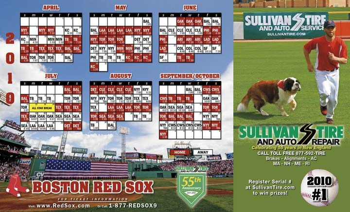 Sullivan Tire offers free Red Sox magnets