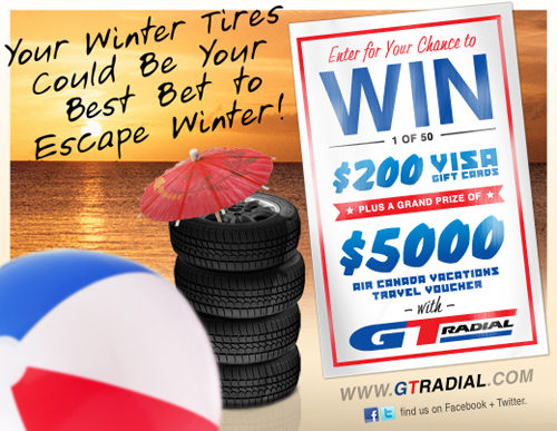 Sweepstakes features GT Radial winter tires