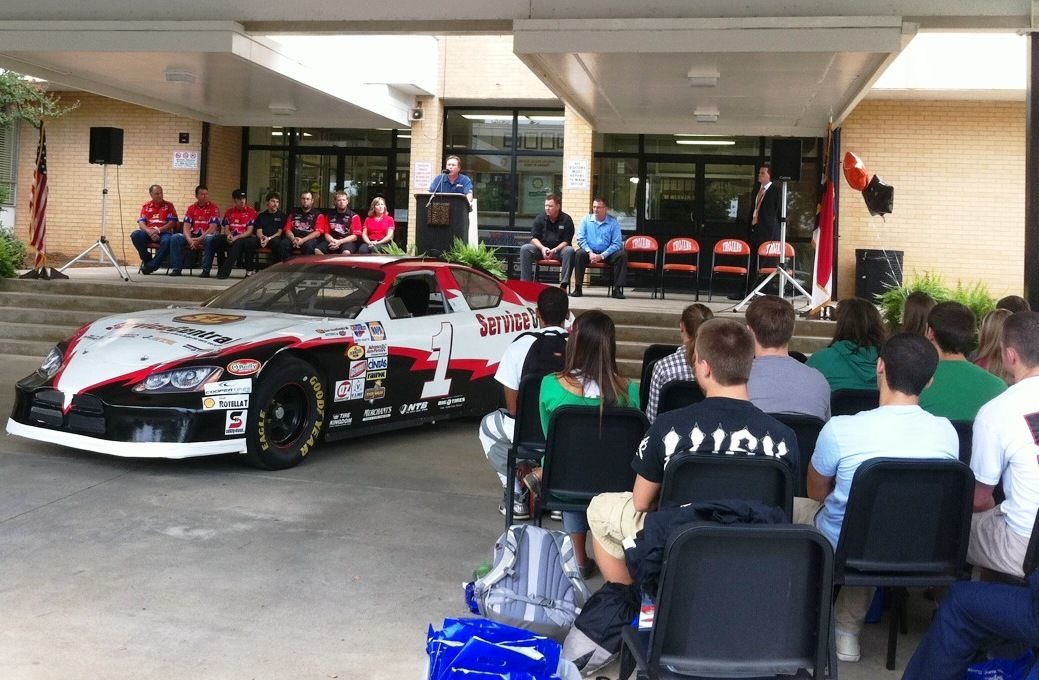 TBC gives Jeff Burton's race car to high school