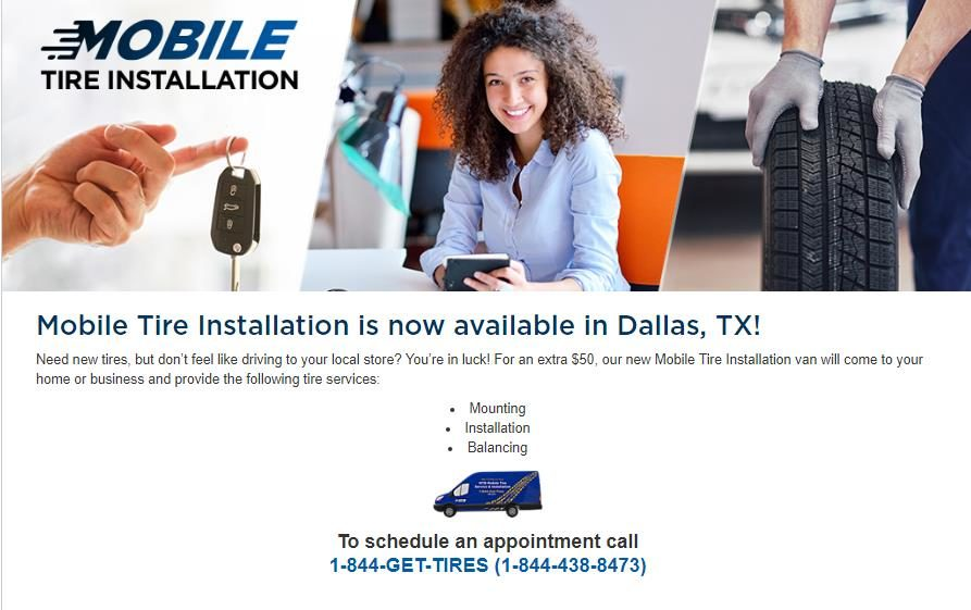 TBC Tests Mobile Tire Installation in Two Markets — Dallas and West Palm Beach