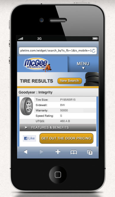TCS adds tire, wheel search to mobile app