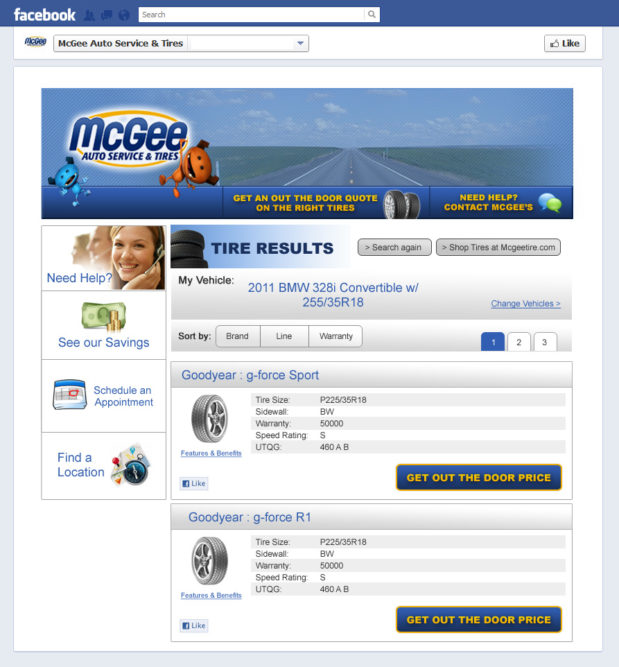 TCS launches Facebook tire shopping app
