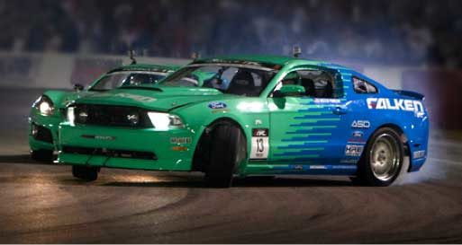 Team Falken is looking to go four-for-four in Formula Drift