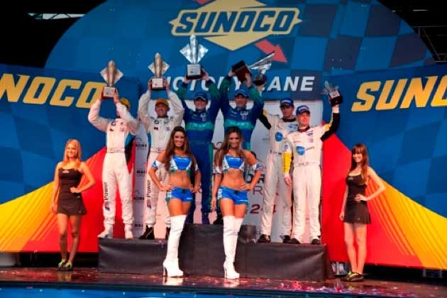 Team Falken takes the GT victory in the streets of Baltimore in ALMS