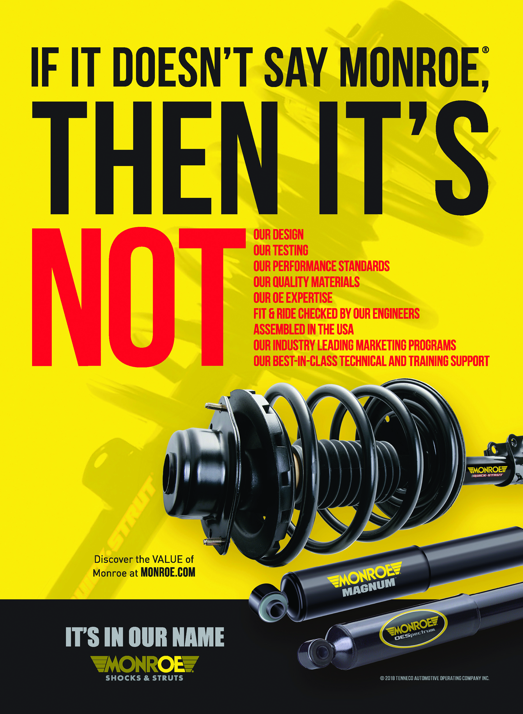 Tenneco Ad Campaign Touts Advantages of Monroe Products
