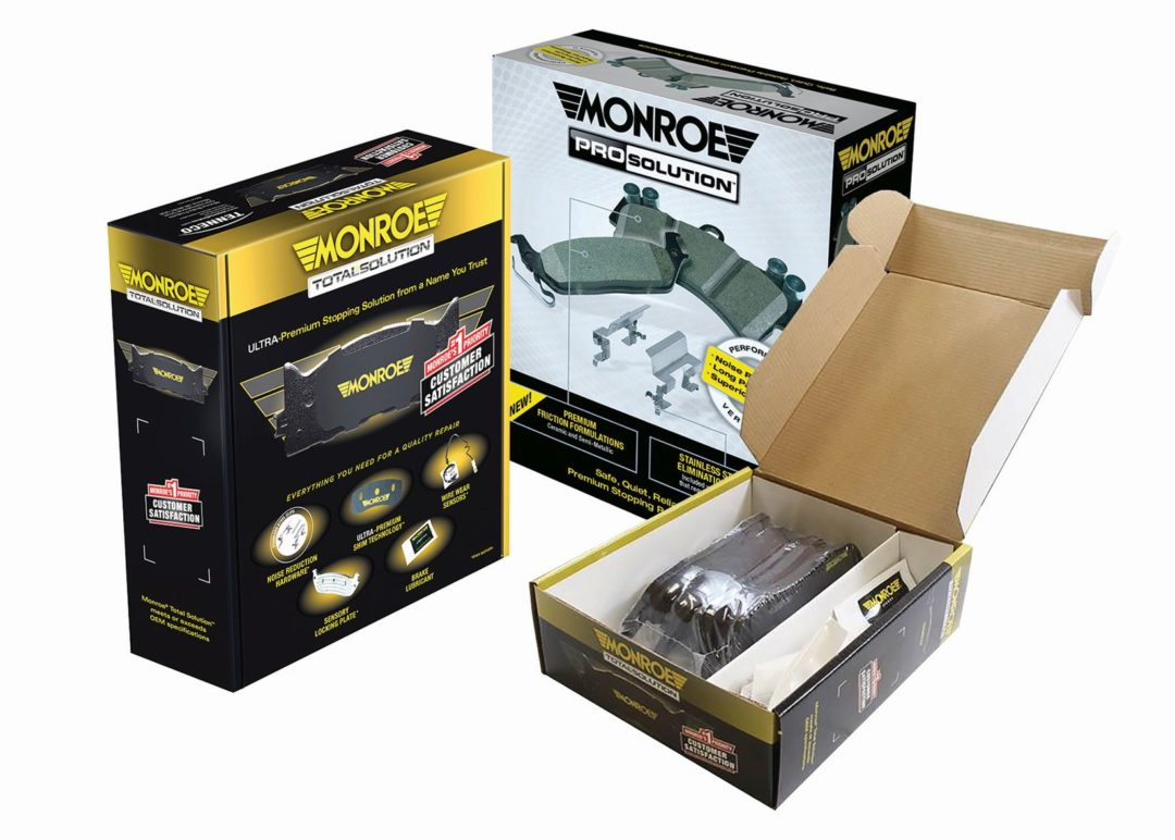 Tenneco Adds Total Solution and Monroe ProSolution Brake Pads