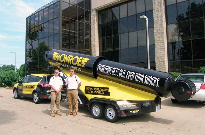 Tenneco campaign gives consumers a big shock!