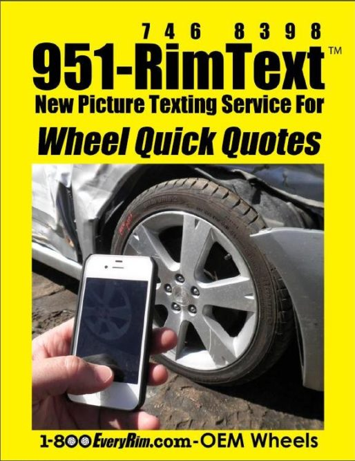 Text and you shall receive a wheel quote