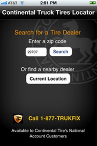 The i's have it: Find Continental truck tire dealers on iPhone, iPad
