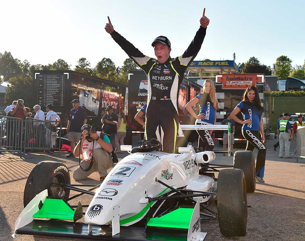 Thompson Doubles Up In USF2000 Thriller