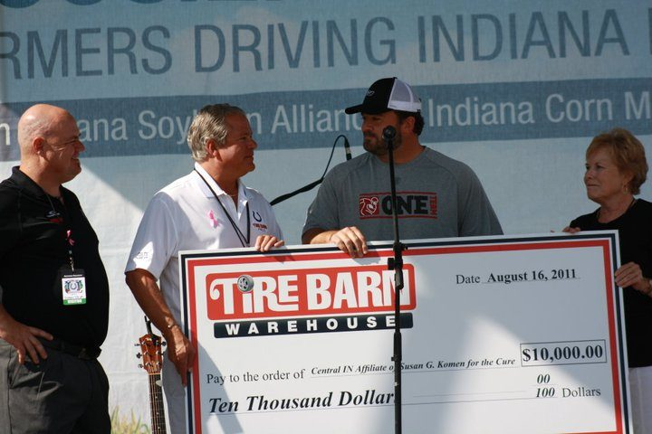 Tire Barn partners with Jeff Saturday for charity