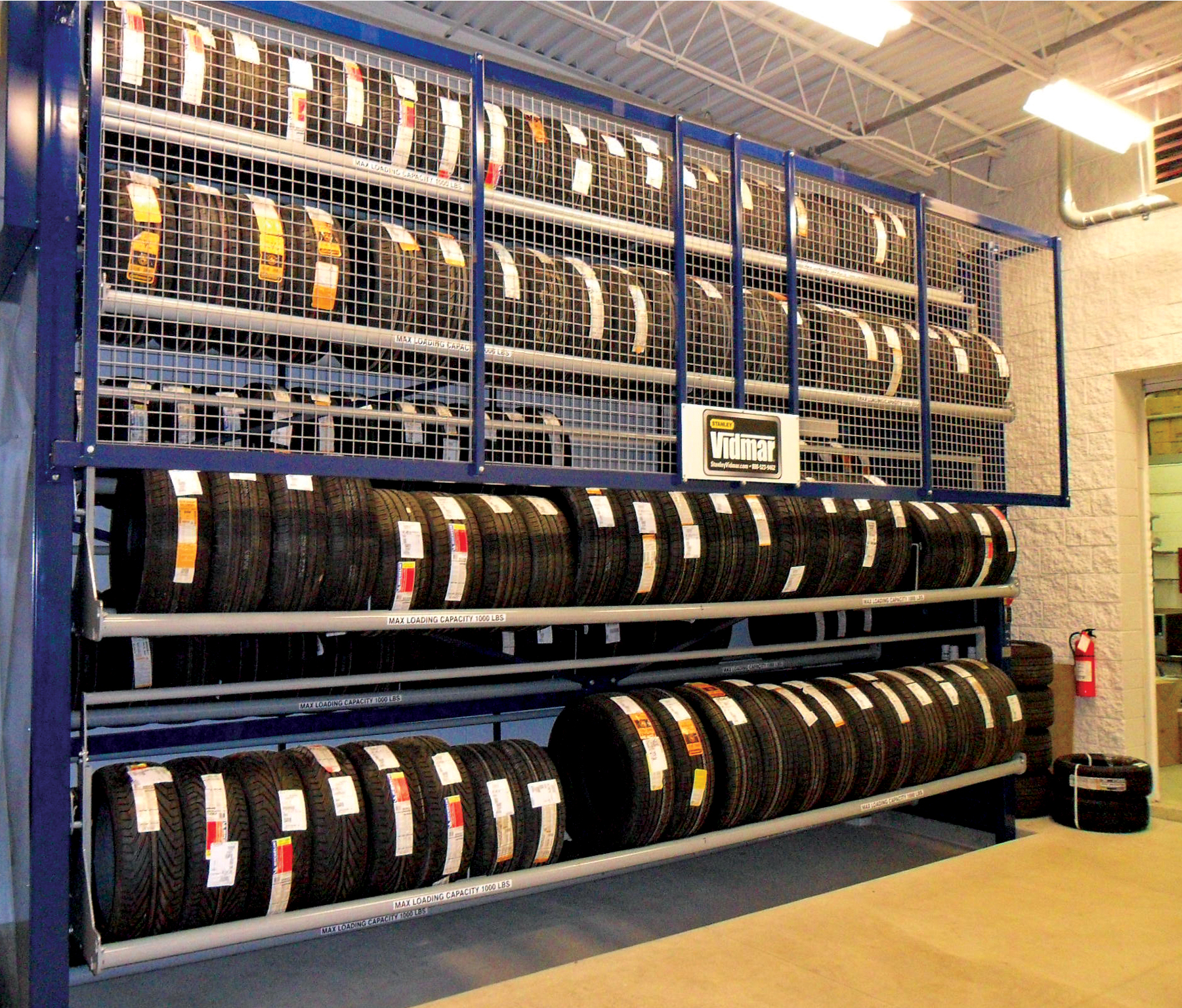 Tire Carousel Does Heavy Lifting