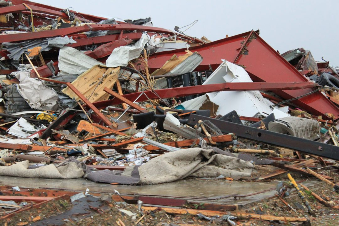 Tornado destroys Cross-Midwest service center
