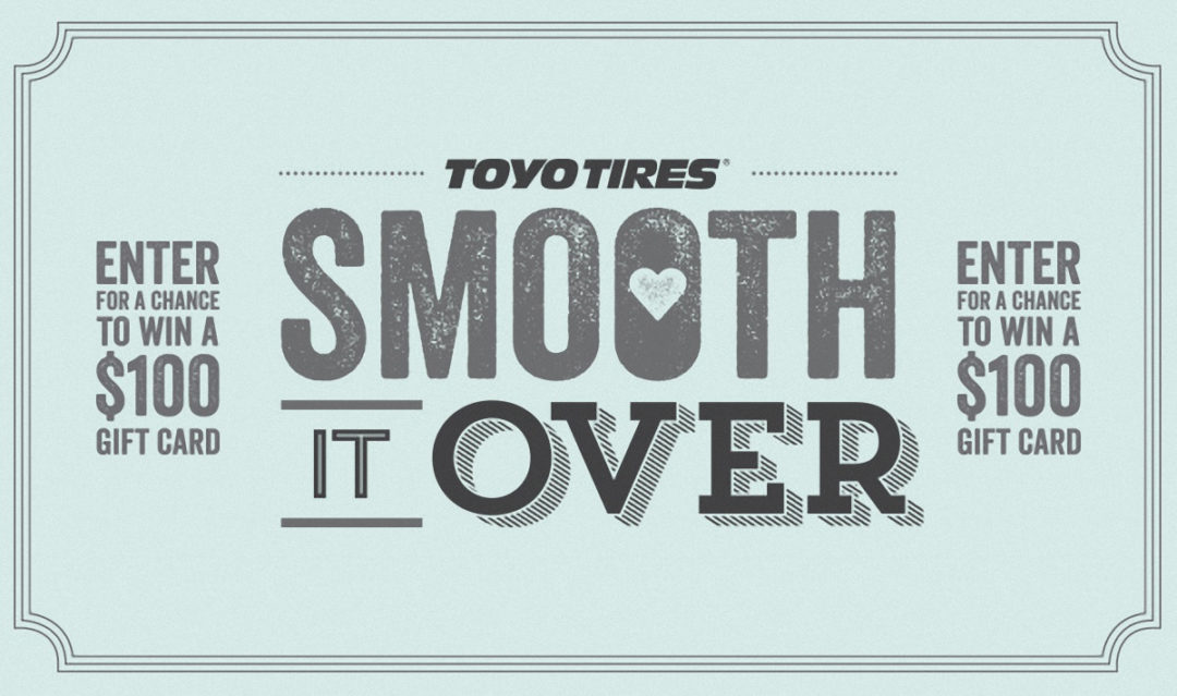 Toyo launches 'Smooth It Over' Facebook contest