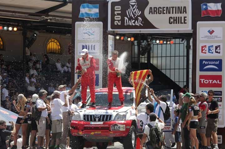 Toyota Cooper Tire team finishes second in 2010 Dakar Rally