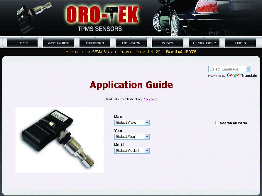 TPMS guide offered by ORO-TEK