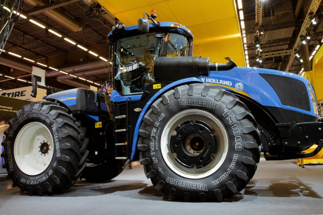 Trelleborg, New Holland show sustainable farming