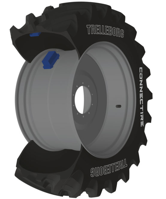 Trelleborg's ConnecTire Is a Smart Wheel for Farm Equipment