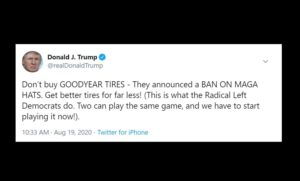 Trump Calls for Goodyear Boycott