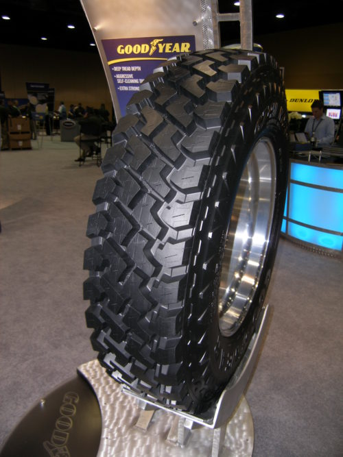 Two Goodyears, a Dunlop and retread innovation