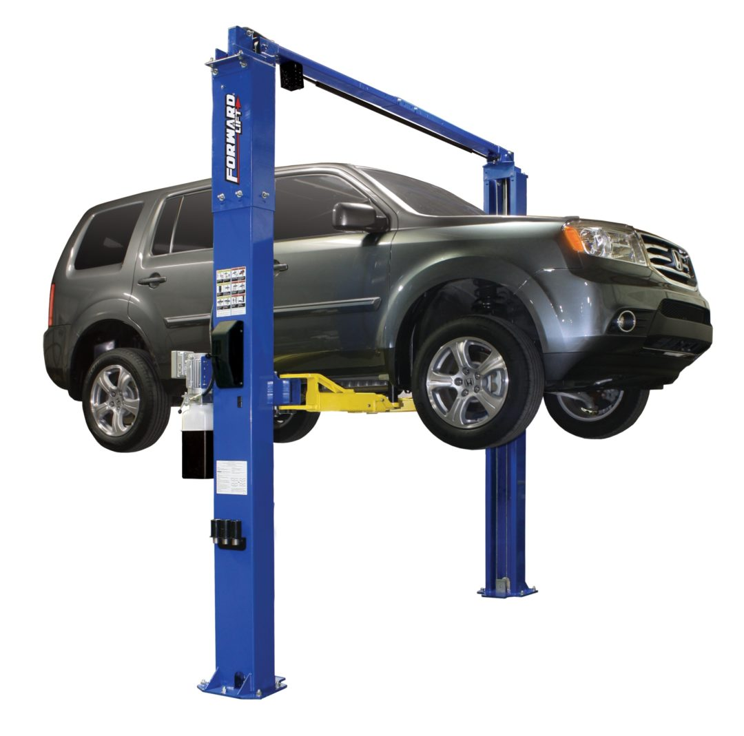 Two-Post Lift Services a Range of Vehicles