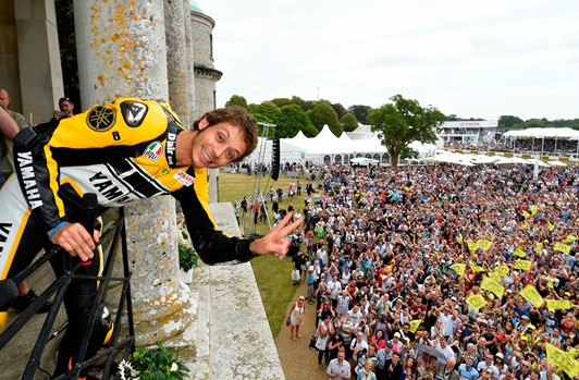 Valentino Rossi at the 2015 Goodwood Festival of Speed