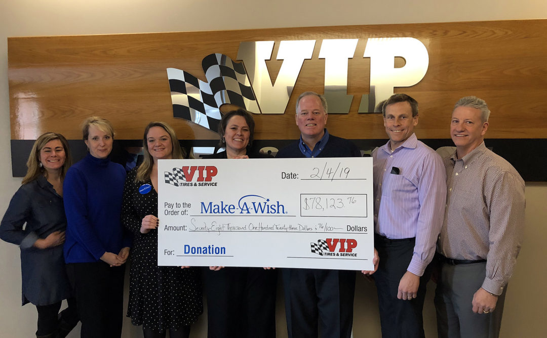 VIP Tires Raised 40% More for Make-A-Wish in 2018