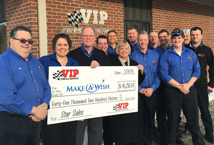 VIP Tires Raises More Than $45,000 for Make-A-Wish