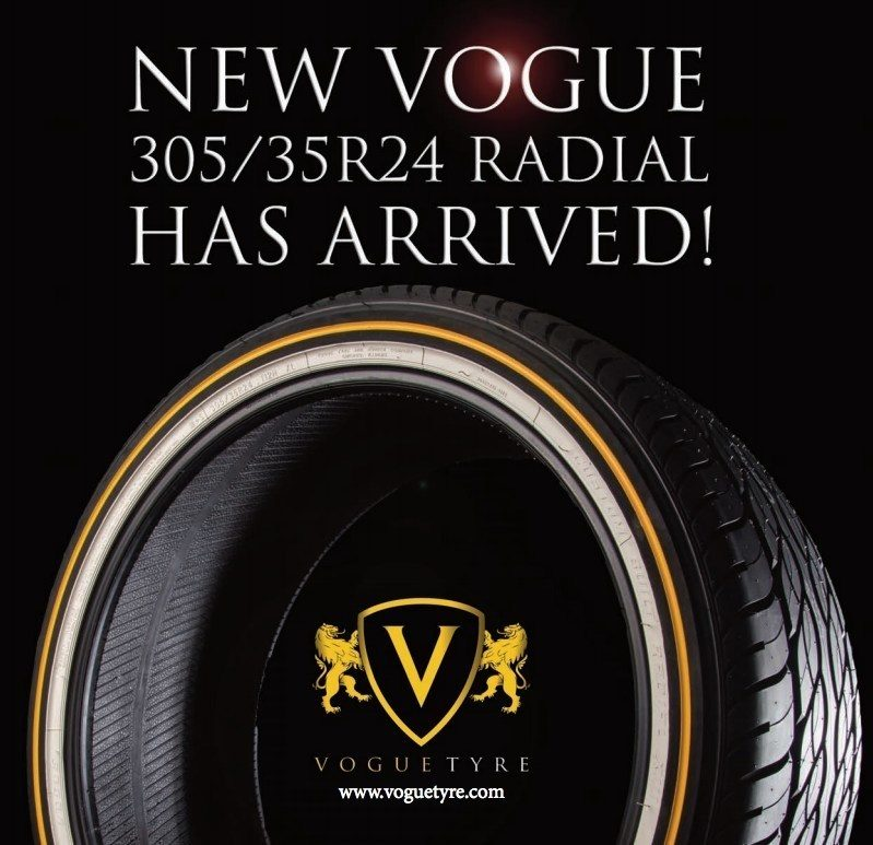 Vogue Tyre Releases 24-inch Whitewall