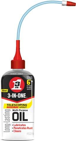 WD-40 adds spout to 3-In-One oil