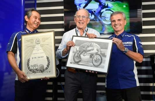 Yamaha celebrates 50th anniversary of first world title with Phil Read