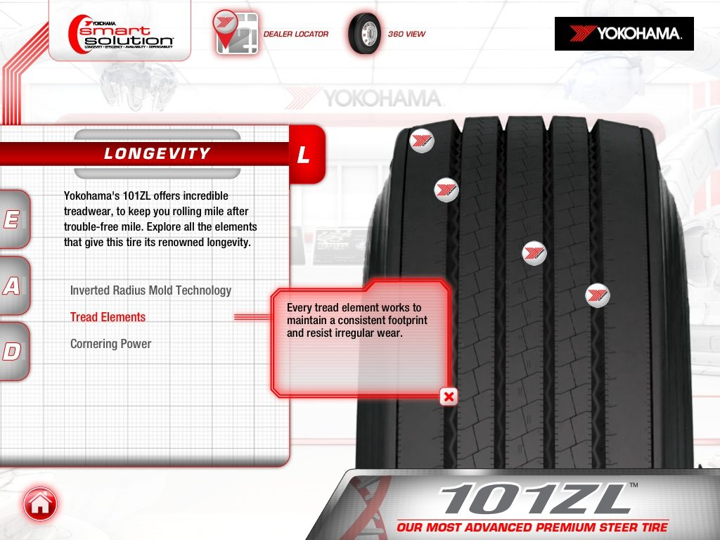 Yokohama revamps iPad app for truck tires